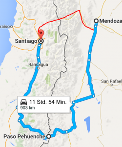 Umweg nach Santiago de Chile