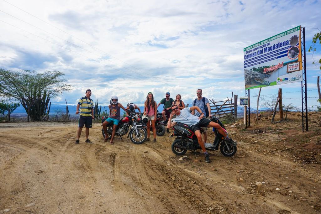 Motorrad-Crew in der Wüste