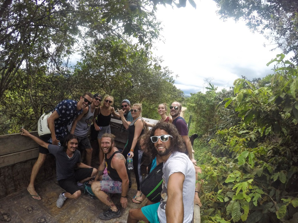 Massen Hitch-Hiking in San Agustin